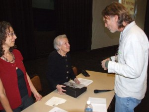 Dorli Rainey, a 80-year activist who was pepper sprayed during Occupy Seattle protests, recently visited Green River Community College to encourage the students to become more involved.